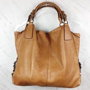 Rebecca Minkoff Large Tan Handbag Gold Buckles